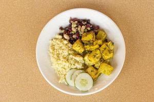 indisk curry tofu foto
