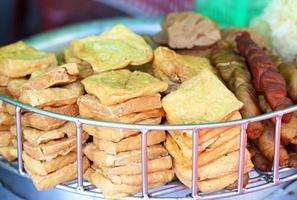 friterad tofu vegetarisk mat foto