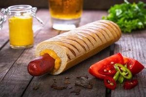 fransk hot dog grill foto
