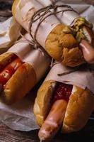 läcker hot dog foto