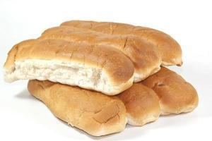 sex välsmakande ugnsbakade vitt bröd foto