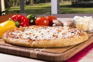 färsk pizza foto