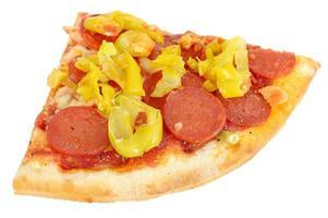 pepperoni och pizza med varm peppar foto