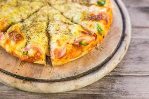 hawaiiansk stil pizza foto