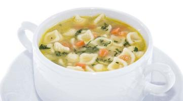 del soppa isolerad på vitt foto