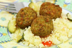 falafel, närbild foto