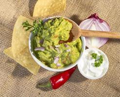 färsk guacamole. foto
