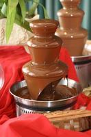 choklad fontän foto