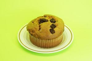 muffin med chokladcentra foto