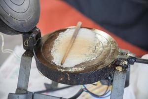 matlagning crepes foto