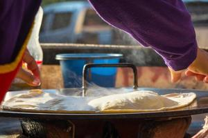 matlagning pankaces foto