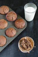 choklad-orange muffins på surdej foto