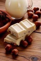 choklad och hasselnötter foto