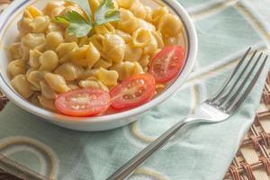 skalmakaroni och ost foto