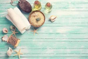 spa- och wellness-inställning i sae-stil. foto