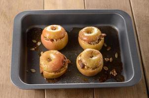 bakade äpplen foto