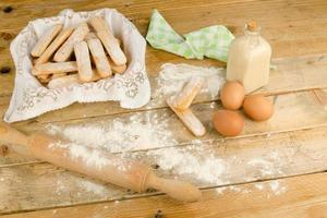 bakning ladyfinger kex foto
