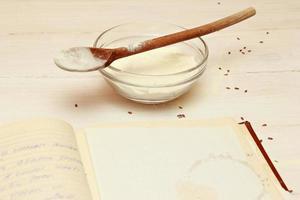 blankt papper för recept foto