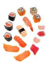 sushi - olika kreationer foto