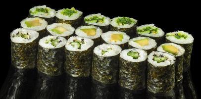 vegetarisk makisushi foto