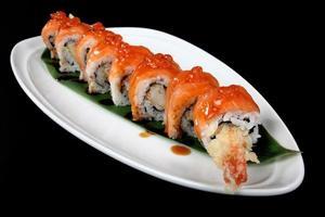 maträtt med japansk mat foto