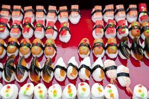 sammansättning med sushi foto