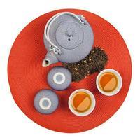 uppsättning av hälsosamt orientaliskt te foto