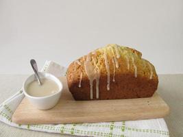 tårta med sockerglas foto