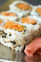 krabba sushi foto