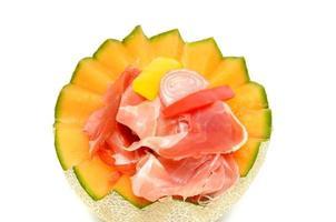 melon med skinka foto
