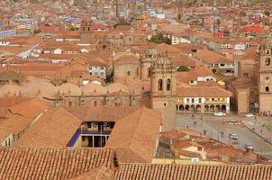 det historiska centrum av cuzco. foto