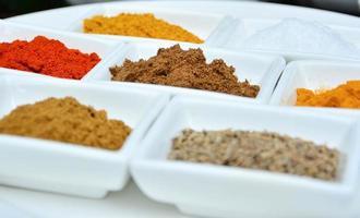 indiska och matlagningskryddor foto