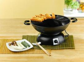 tempura stek grönsakspanna foto