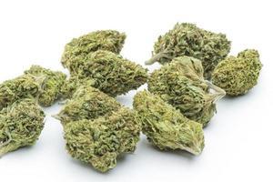 medicinsk marijuana, torkad och klar för användning foto