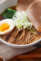 japansk mat, ramen foto