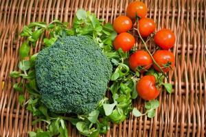 blomkål och broccoli foto