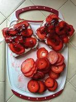 jordgubbbröd foto
