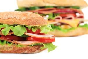 fransk baguette färsk smörgås. foto