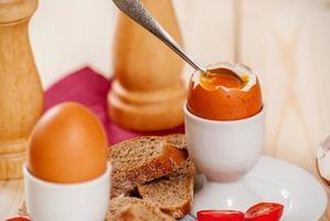 kokt ägg foto