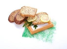 olika bröd. mat bakgrund foto