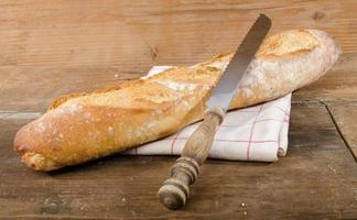 välsmakande fransk baguette foto