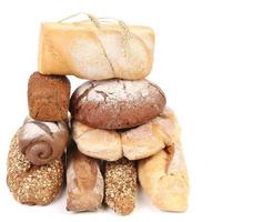 olika typer av bröd. foto
