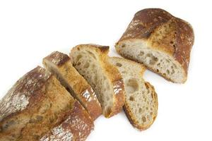 bröd bakat i en traditionell ugn foto