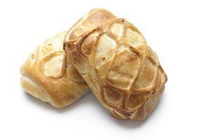 bageriprodukter på vit bakgrund foto