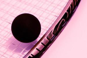 squashboll och racket