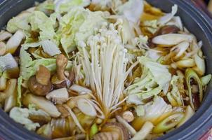 sukiyaki japansk mat foto