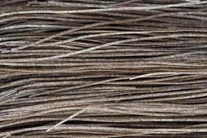 svart pasta färgad med bläckfisk sepia bläck foto