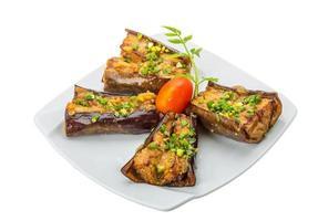 grillad aubergine foto
