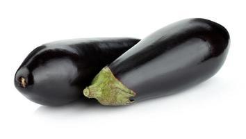 två aubergine foto