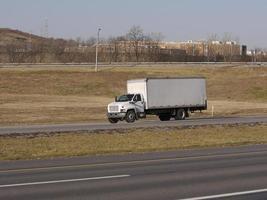 vitlåda lastbil foto